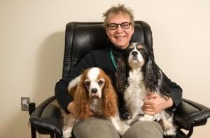 Last family portrait, Robyn, Murphy, and Alki, Jan. 2012