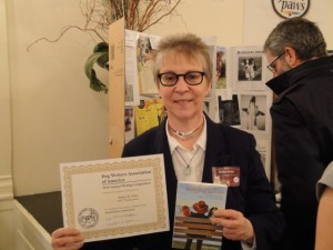 Robyn winning the Merial Human-Animal Bond Award