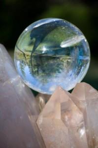 Fallon on an ancient Lemurian crystal